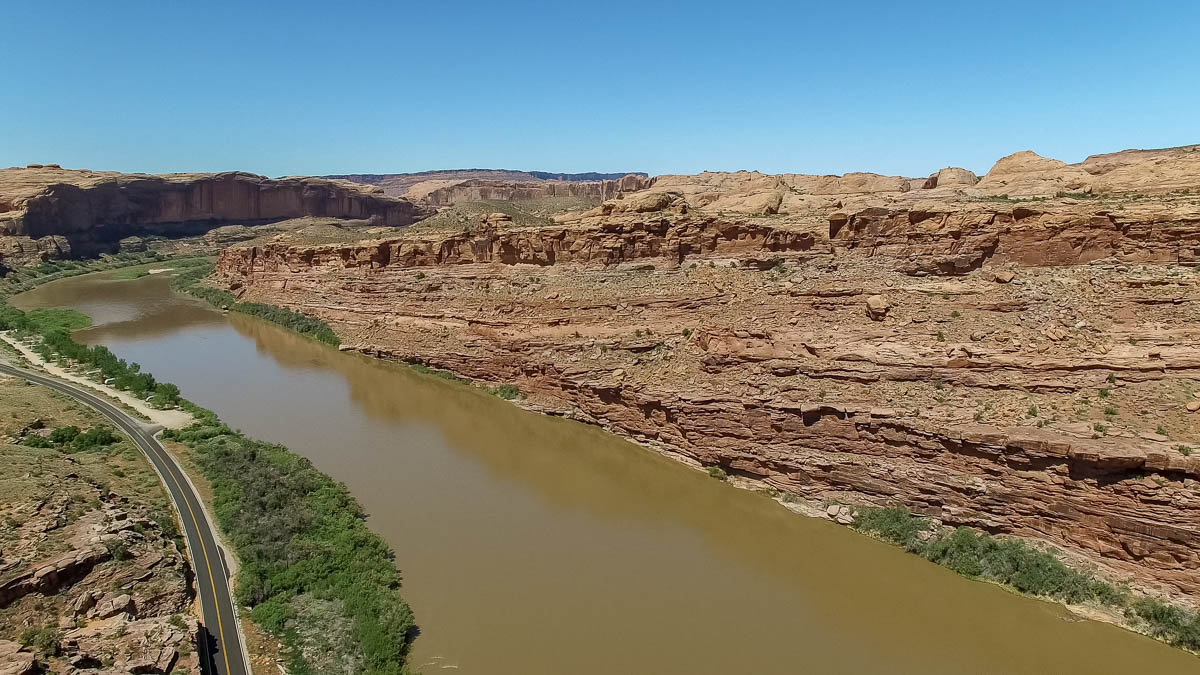 Colorado River drone photo 1